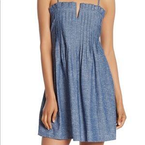 Madewell Pintuck Chambray Dress